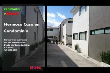 Foto de casa en condominio en renta en ferrocarril de cuernavaca 2917, san jerónimo lídice, la magdalena contreras, distrito federal, 2956746 No. 01
