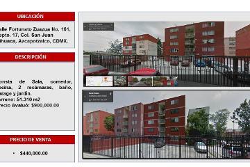 Foto de departamento en venta en San Juan Tlihuaca, Azcapotzalco, Distrito Federal, 2945452,  no 01