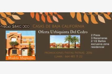 Foto de casa en venta en jacarandas 4202, urbi quinta del cedro, tijuana, baja california, 2358064 No. 01
