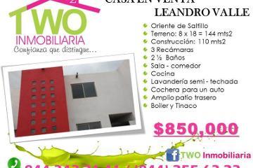 Foto de casa en venta en  , leandro valle, saltillo, coahuila de zaragoza, 2786294 No. 01