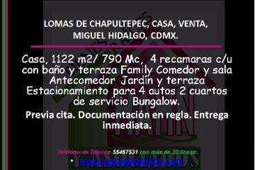 Foto de casa en venta en  , lomas de chapultepec v sección, miguel hidalgo, distrito federal, 2805372 No. 01