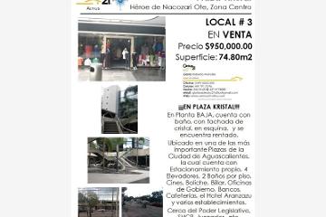 Foto de local en venta en avenida heroe de nacozari , zona centro, aguascalientes, aguascalientes, 384953 No. 01