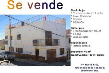 Foto de casa en venta en nueve 302, ayuntamiento, zacatecas, zacatecas, 2391166 no 01