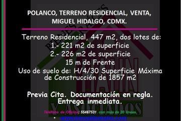 Foto de terreno habitacional en venta en  , polanco iii sección, miguel hidalgo, distrito federal, 2959938 No. 01