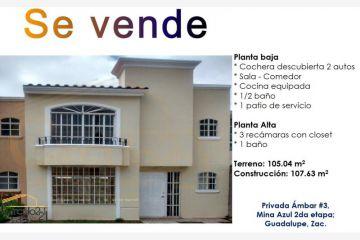 Foto de casa en venta en privada ambar 3, mina azul, guadalupe, zacatecas, 2391094 no 01