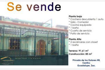 Foto de casa en venta en privada de los dolores 8, guadalupe centro, guadalupe, zacatecas, 2387278 no 01