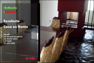 Foto de casa en renta en sagredo 168, san josé insurgentes, benito juárez, distrito federal, 2652325 No. 01