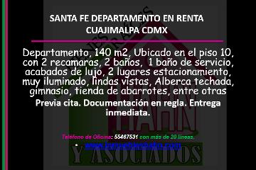 Foto de departamento en renta en  , santa fe cuajimalpa, cuajimalpa de morelos, distrito federal, 2803909 No. 01