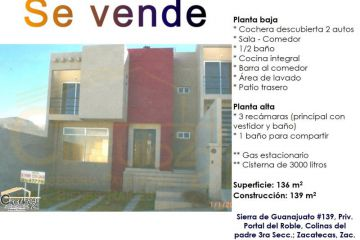Foto de casa en venta en sierra de guanajuato 1, camino real, zacatecas, zacatecas, 2391174 no 01