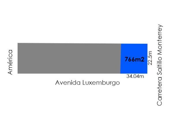 Foto de terreno comercial en renta en luxemburgo 150, virreyes residencial, saltillo, coahuila de zaragoza, 3029860 No. 02