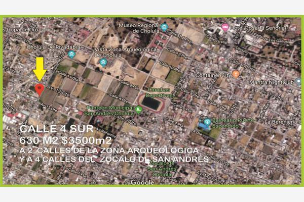 Foto de terreno habitacional en venta en 4 sur , san andrés, san andrés cholula, puebla, 5902777 No. 01