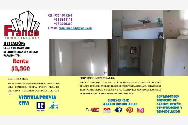 Foto de departamento en renta en 5 de mayo 0, paraíso centro, paraíso, tabasco, 3060446 No. 02
