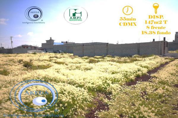 Foto de terreno habitacional en venta en a unos metros de deloxxo puente de piedra con todos los servic, fuentes de tizayuca, tizayuca, hidalgo, 10095484 No. 01