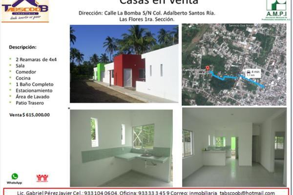 Foto de casa en venta en la bomba , adalberto santos, paraíso, tabasco, 2701795 No. 01