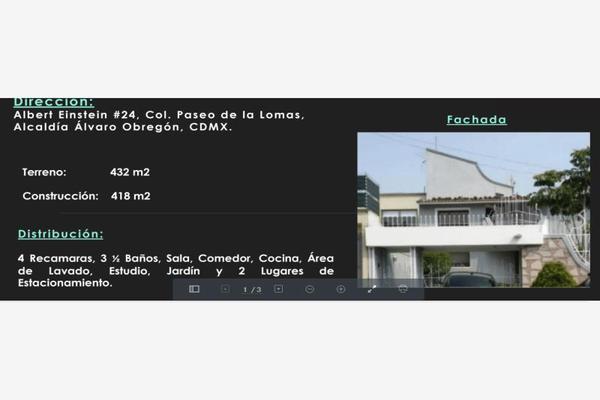 Foto de casa en venta en albert einstein 24, paseo de las lomas, álvaro obregón, df / cdmx, 7147539 No. 01