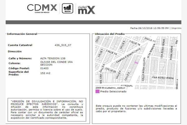 Foto de casa en venta en alta tensión 140, olivar del conde 1a sección, álvaro obregón, df / cdmx, 6129220 No. 06