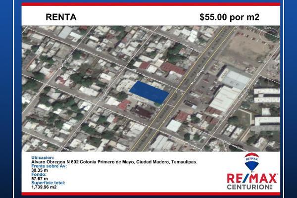 Foto de terreno comercial en renta en alvaro obregón , 15 de mayo, ciudad madero, tamaulipas, 8384192 No. 02