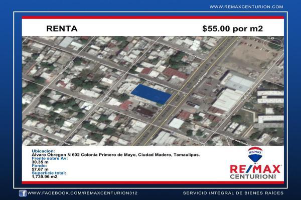 Foto de terreno comercial en renta en alvaro obregón , 1ro de mayo, ciudad madero, tamaulipas, 8384192 No. 02