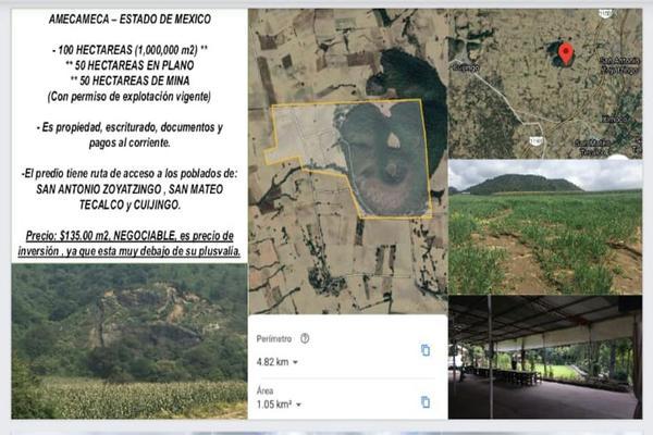 Foto de terreno habitacional en venta en amecameca , san antonio zoyatzingo, amecameca, méxico, 0 No. 01