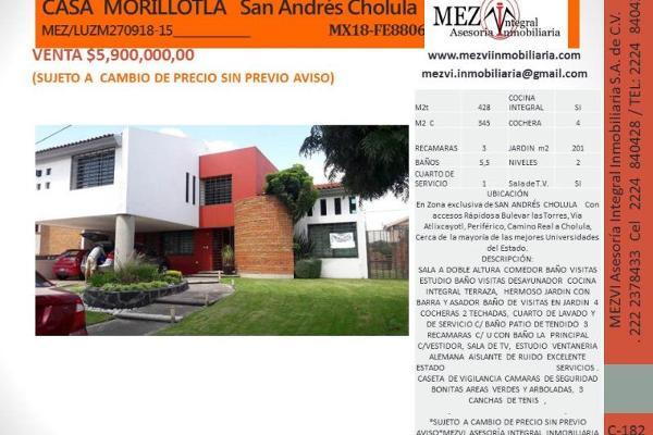 Foto de casa en venta en antiguo camino 17, morillotla, san andrés cholula, puebla, 5813583 No. 02