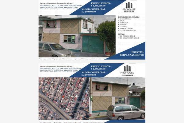 Foto de casa en venta en avenida 531 11, ampliación san juan de aragón, gustavo a. madero, df / cdmx, 16836368 No. 01