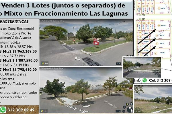 Foto de terreno habitacional en venta en avenida akoliman , las lagunas, villa de álvarez, colima, 13345152 No. 01