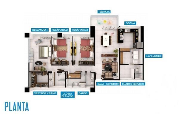 Foto de departamento en venta en avenida antonio enríquez savignac, sm-04 a manzana 01 l-04 , supermanzana 5 centro, benito juárez, quintana roo, 5383378 No. 04