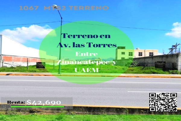 Foto de terreno habitacional en venta en avenida las torres , san mateo oxtotitlán, toluca, méxico, 0 No. 01
