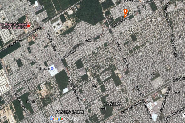 Foto de terreno comercial en venta en avenida los tules , supermanzana 226, benito juárez, quintana roo, 3603378 No. 01