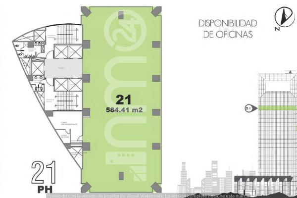 Foto de oficina en renta en avenida paseo de la reforma , lomas altas, miguel hidalgo, df / cdmx, 5331453 No. 01