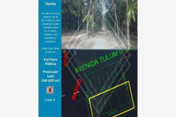 Foto de terreno comercial en venta en avenida tulum , tulum centro, tulum, quintana roo, 8852842 No. 01