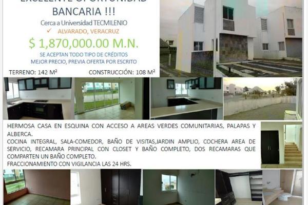 Foto de casa en venta en circuito 2 #, banus, alvarado, veracruz de ignacio de la llave, 2684195 No. 01