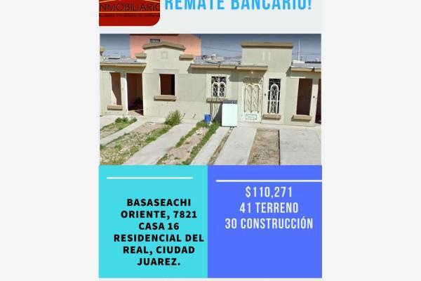 Foto de casa en venta en basaseachi 7821, villas residencial del real, juárez, chihuahua, 5416510 No. 01