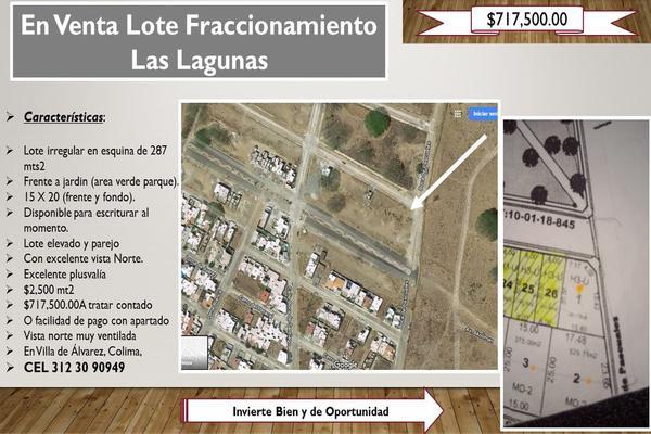 Foto de terreno habitacional en venta en boca de pascuales , las lagunas, villa de álvarez, colima, 0 No. 01