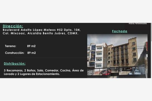 Foto de departamento en venta en boulevard adolfo lopez mateos 52, mixcoac, benito juárez, distrito federal, 0 No. 01