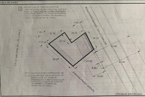Foto de terreno comercial en venta en naucalpan boulevard manuel avila camacho , naucalpan , san josé de los leones 1a sección, naucalpan de juárez, méxico, 7146998 No. 01
