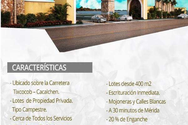 Foto de terreno habitacional en venta en  , cacalchen, cacalchén, yucatán, 5398855 No. 01