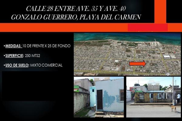 Foto de terreno habitacional en venta en calle 28 entre 35 y 40 , playa del carmen centro, solidaridad, quintana roo, 7121115 No. 01