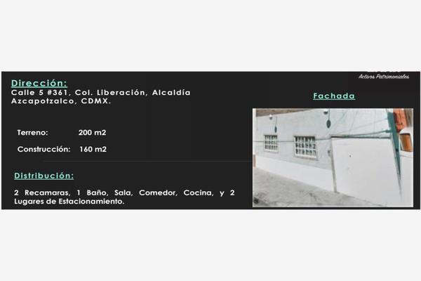 Foto de casa en venta en calle 5 361, liberación, azcapotzalco, df / cdmx, 7148204 No. 01