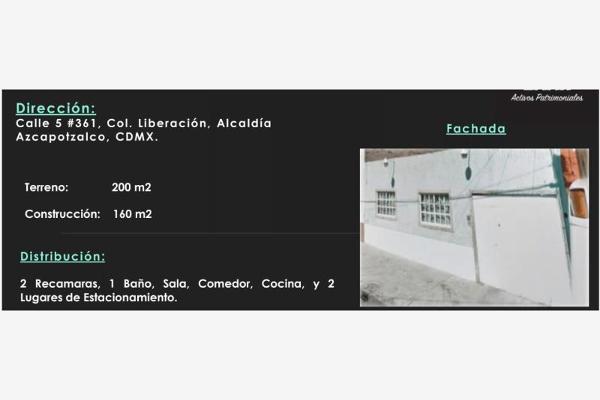 Foto de casa en venta en calle 5 361, liberación, azcapotzalco, distrito federal, 0 No. 01