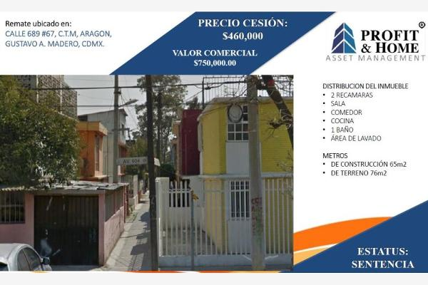 Foto de casa en venta en calle 689 67, ampliación san juan de aragón, gustavo a. madero, df / cdmx, 0 No. 01