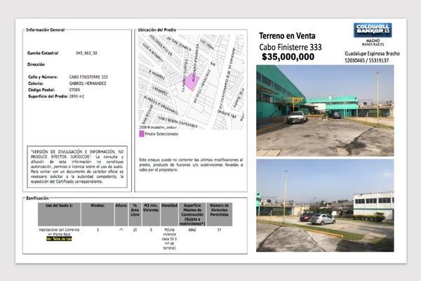 Foto de terreno habitacional en venta en calle cabo finisterre , ampliación gabriel hernández, gustavo a. madero, df / cdmx, 7586838 No. 01