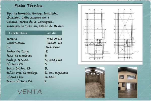 Foto de bodega en venta en calle jaltenco colonia: barrio de la concepción municipio de tultitlan, estado de méxico. , tultitlán, tultitlán, méxico, 0 No. 01