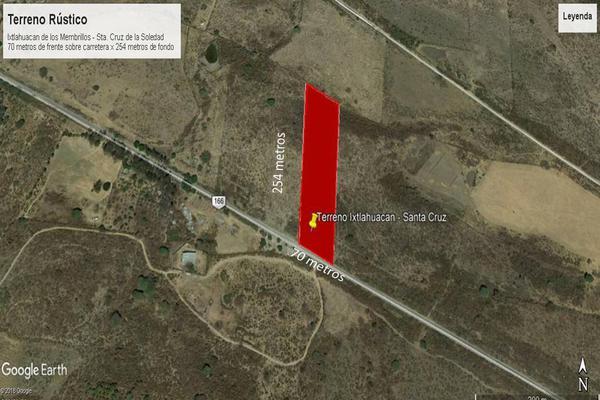 Foto de terreno habitacional en venta en camino a santa cruz de la soledad s/n , ixtlahuacan de los membrillos, ixtlahuacán de los membrillos, jalisco, 13243974 No. 04