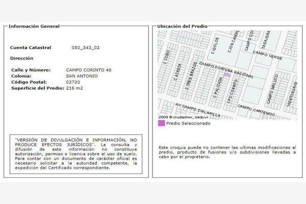Foto de casa en venta en campo corinto 40, san antonio, azcapotzalco, df / cdmx, 0 No. 03