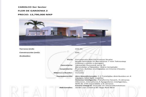 Foto de casa en venta en  , carolco, monterrey, nuevo león, 12278229 No. 01