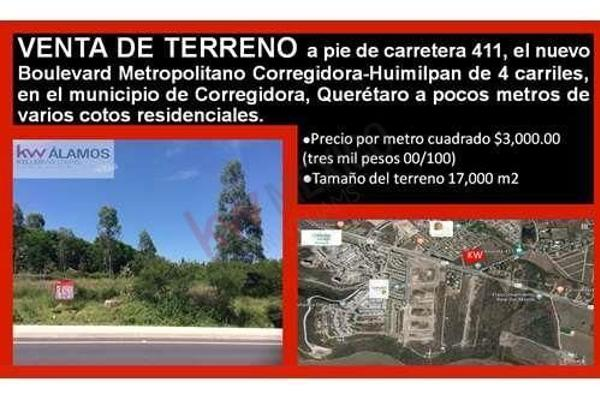 Foto de terreno habitacional en venta en carretera estatal , corregidora, querétaro, querétaro, 5943660 No. 01