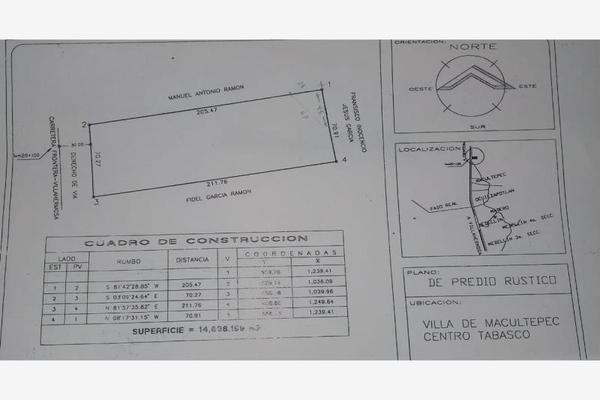 Foto de terreno comercial en venta en carretera frontera kilometro 20, macultepec, centro, tabasco, 7222782 No. 01