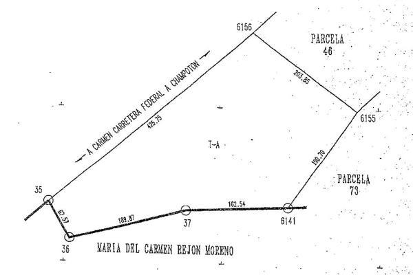 Foto de terreno habitacional en venta en carretera isla aguada-sabancuy kilometro 41 , isla aguada, carmen, campeche, 3675549 No. 01