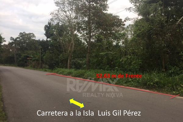 Foto de terreno habitacional en venta en carretera la isla kilometro 13 , luis gil perez, centro, tabasco, 4649222 No. 01